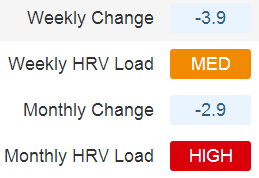 Interpreting Monthly HRV Load
