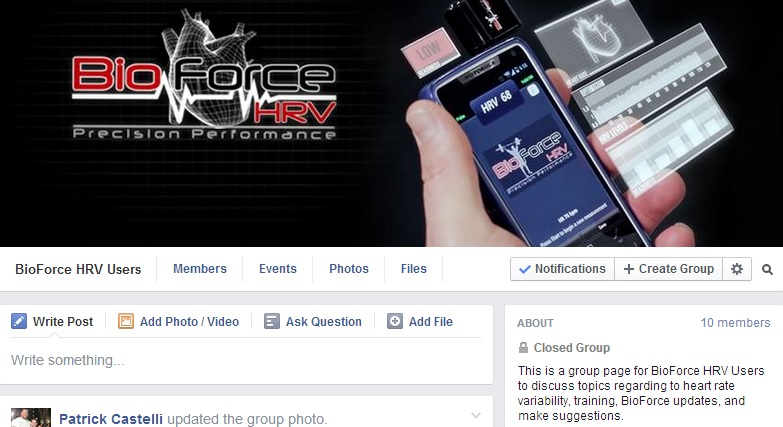 BioForce HRV Facebook Group